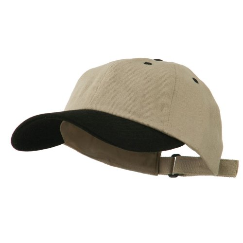 (MG Heavy Brushed Cotton Twill Cap - Khaki Black OSFM)