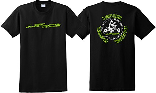 JUST RIDE ATV Longer Harder Faster Shirt Quad (Medium, for sale  Delivered anywhere in USA