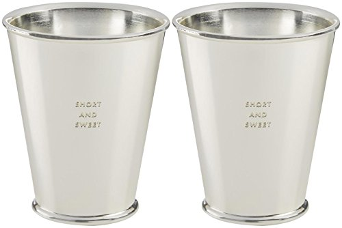SHORT AND SWEET Silverplate Snack Cups - Set of 2