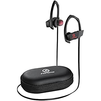 Forone Bluetooth Earbuds, IPX6 Waterproof Wireless Sport Running Bluetooth Headphones, V4.1 Gym Noise Cancelling Stereo Hands Free Secure Fit Headset with Mic