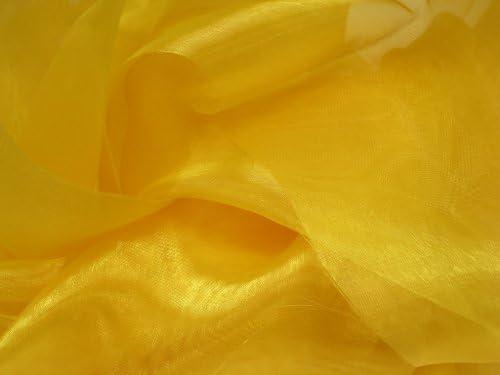 Amazon Com Yellow Mirror Organza Fabric 58 60 X 10yd