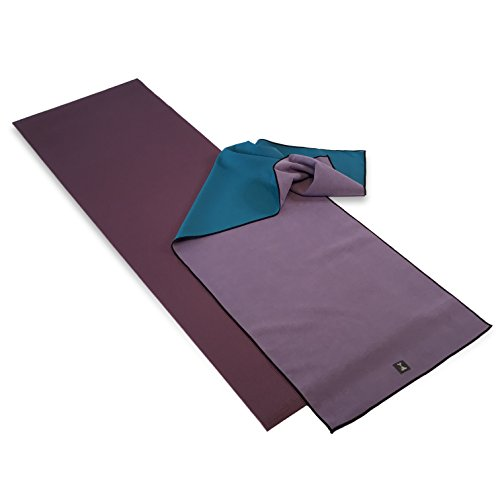 RatMat Yoga Mat & Gummy Grip Yoga Towel Set – Silicone Backed Yoga Mat Towel & Yoga Mat – Phthalate Free Mats – Microfiber Yoga Towel With Non-Slip Silicone Bottom – No Uncomfortable Dots – 24″ x 72″ For Sale