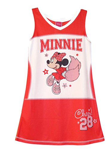 DisnyTM Minnie Mouse Girl's 6/6X Mesh Athletic Cheerleader Nightshirt, Nightgown -