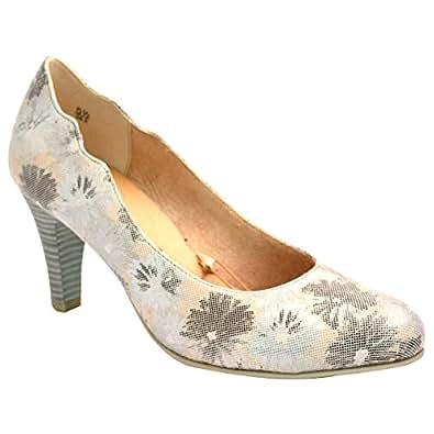 Caprice Grey Heel For Women
