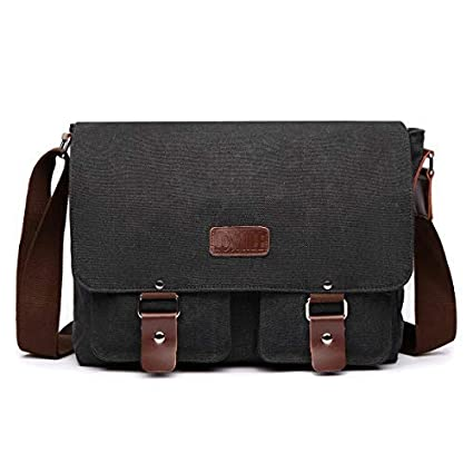 74af58db3b Image Unavailable. Image not available for. Color  LOSMILE Messenger Laptop  Bag 16 inch Men s Shoulder Bag Canvas Bag ...