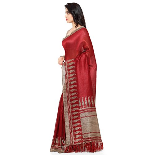 Rajnandini-Womens-Tussar-Silk-Paisley-Printed-SareeJOPLNB3010RedFree-Size