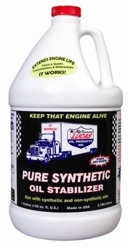 Lucas Oil 10131-PK4 Synthetic Oil Stabilizer - 1 Gallon (Pack of 4) by Lucas Oil