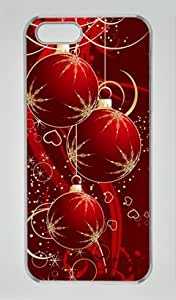 Christmas Accessories 003 Iphone 5 5S Hard Shell with Transparent Edges Cover Case by Lilyshouse by mcsharks