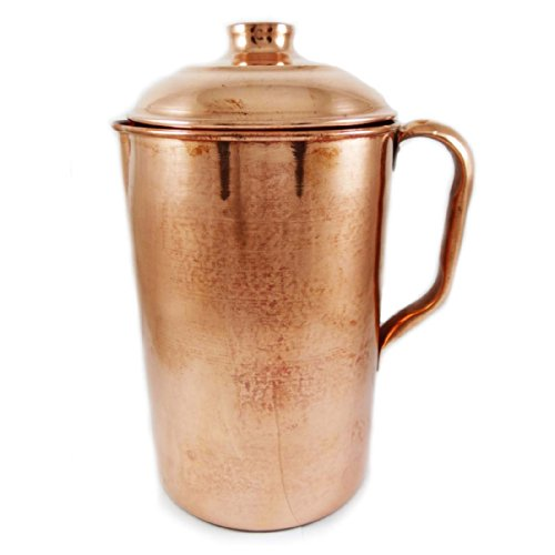 Water Drinking Traditional (ibaexports Royal Indian Copper Water Jug Drinking Pitcher Tableware Traditional Collection)