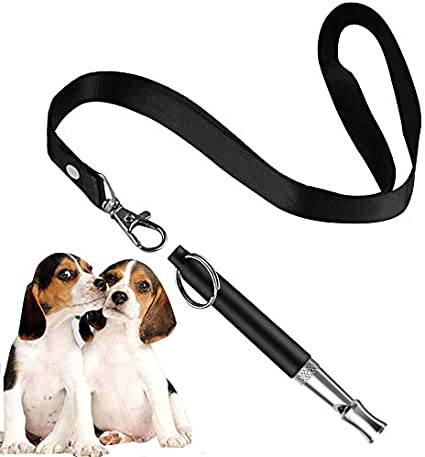 BMHNOONE Dog Whistle to Stop Barking Pack of 1 PCS Whistles with 1 Free Lanyard Strap Adjustable Pitch Ultrasonic Training Tool Silent Bark Control for Dogs