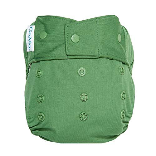 GroVia Reusable Hybrid Baby Cloth Diaper Snap Shell (Basil)