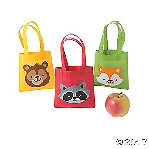 Woodland Party Mini Tote Bags - 12 ct
