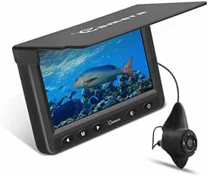 Underwater Fishing Camera, MOOCOR Portable Fish Finder Camera HD 1000 TVL Infrared LED Waterproof Camera with 4.3 Inch LCD Monitor for Ice Lake Sea Boat Kayak Fishing