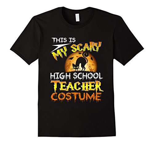 School Teacher Costume Accessories (Mens My Scary High School Teacher Costume Shirt Moon Halloween Small Black)