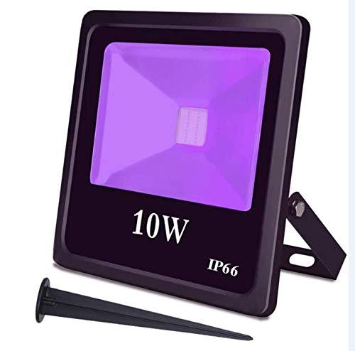 UV LED Black Light,High Power 10W Ultra Violet UV LED Flood Light IP65-Waterproof (85V-265V AC) for Blacklight PartySupplies,Neon Glow,Glow in The Dark,Fishing,Aquarium,Curing,Party Light