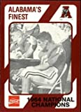 1964 National Champions football card (Alabama Crimson Tide) 1989 Collegiate Collection Coca Cola #376