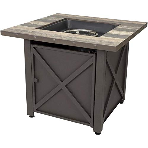 - Endless Summer 30-in W 50000-BTU Brown Tabletop Steel Propane Gas Fire Table