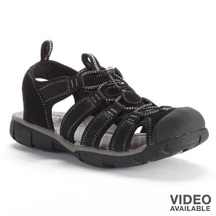 34e691ad8 Amazon.com: Croft & Barrow Black Sport Sandals - Men: Everything Else