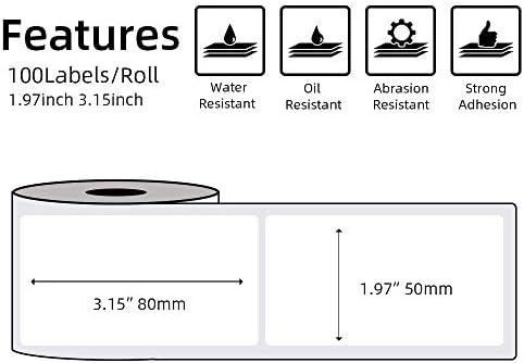 0,78 x 0,39 20x10 mm 600 Etiquetas // Rollo Papel De Etiquetas Autoadhesivo Blanco Multiusos para Impresora T/érmica de Etiquetas M110 // M200 Bluetooth