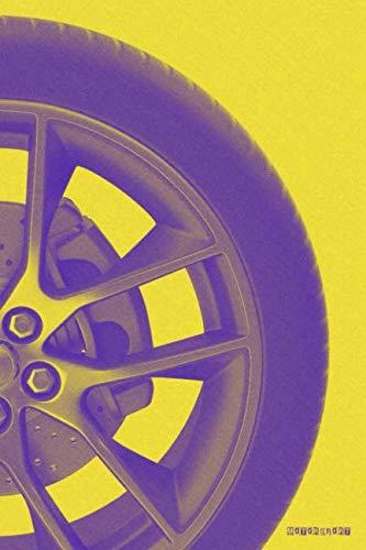 Motorsport: F1 MotoGP NASCAR Rallying Racing (Yellow) Bullet Journal Dot Grid BuJo Daily Planner ()