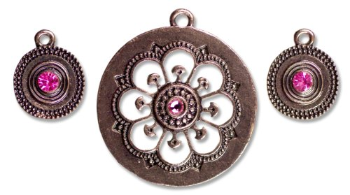 Cousin Jewelry Basics 3-Piece Metal Accent, Sunburst Copper