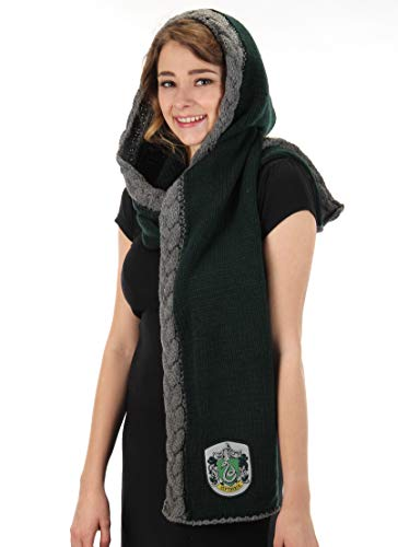 elope Harry Potter Slytherin Knit Hooded Scarf Green ()
