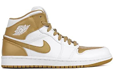 buy popular 21802 d32fd Image Unavailable. Image not available for. Color  AIR JORDAN 1 PHAT WHITE    METALLIC GOLD 364770-130