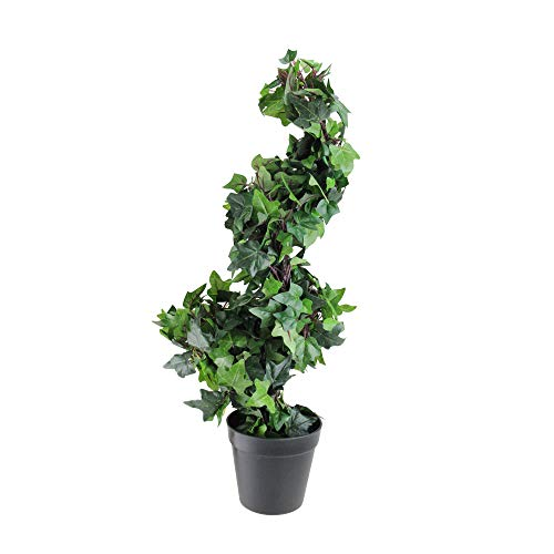 - Northlight 1.75' Potted English Ivy Spiral Artificial Topiary Christmas Tree - Unlit