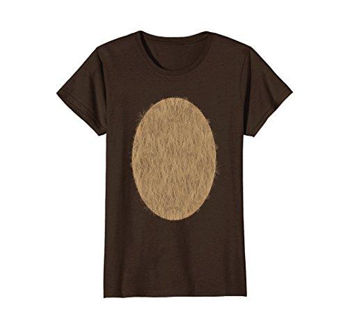 Womens Deer Belly Tshirt Halloween Costume Rudolph DIY Shirt Small Brown for $<!--$16.95-->