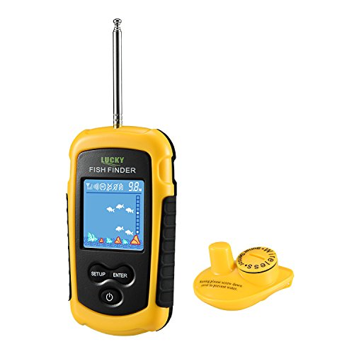 LUCKY Portable Wireless Fish Finder for Shore Fishing