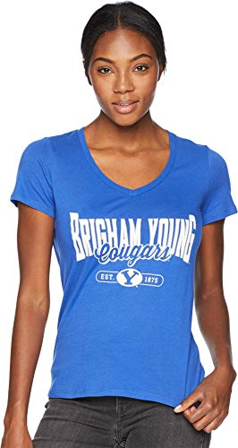 - Champion College Women's BYU Cougars University V-Neck Tee Royal Small