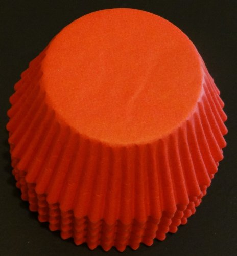 100 Red Cupcake Liners Baking Cups STANDARD SIZE