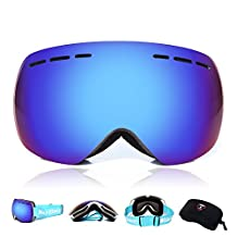 WOLFBIKE Mens Motorcycle Goggle Ski Snowmobile Eyewear Snow Sports Protective Safety Glasses Multi-color Available