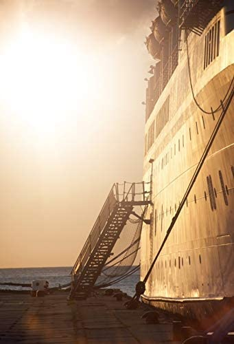 CdHBH 10x12ft Marine Theme Passenger Staircase gangway Cruise Liner Steamer Vinyl Material Portrait Clothing Photo Photography Background Cloth Festival Venue Party Setting