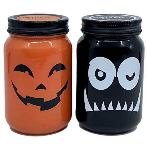 DW Home Monster Mash Pumpkin Rum and Black Tobacco Scented Jar Candle Bundle Pack ()