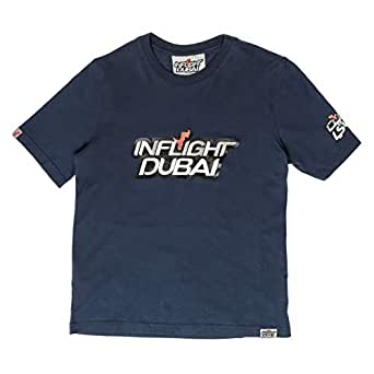 Inflight Dubai Navy Blue Round Neck T-Shirt For Boys