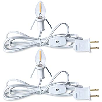 9-Feet Darice Accessory Cord with 5 Lights 2-Pack White