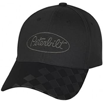 Amazon.com  Peterbilt Motors Black Checkered Bill Cap  Sports   Outdoors 956cc6046d5