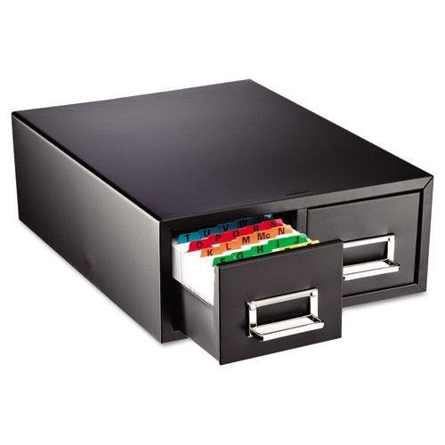 SteelMaster. Drawer Card Cabinet Holds 3,000 3 x 5 cards, 12 5/16