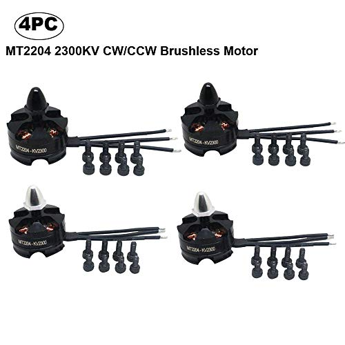 Littleice MT2204 2300KV CW/CCW Brushless Motor for Mini Quadcopter Thread Black (4PC)