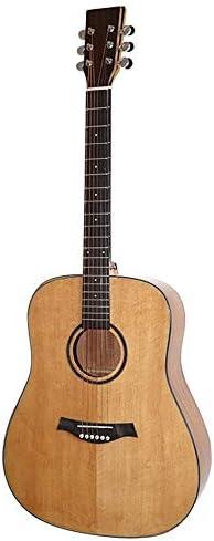 ギター 初心者プロフェッショナルイエローのアコースティックギターソリッドウッドベニヤギター 入門 ギター (Color : Yellow, Size : 41 inches)