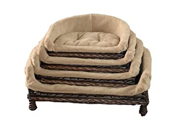 Luxury Wicker Pet sofa with cushion, Small,M,L,XL Available