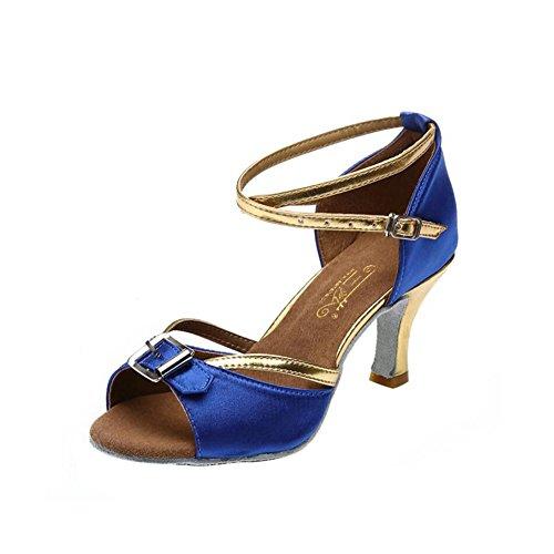 Schuhe XUE B Flared Strass Latin Sekt Professional Fersen Glitter Funkelnde Heel Performance Sandale Ballroom Schuhe Damen Farbe Ein Glitter Größe 35 rfTwf