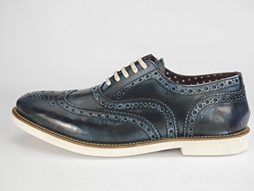 Mocassin Homme Richelieus London Navy Sole Leather Brogue Farnham Cuir white q1ROT