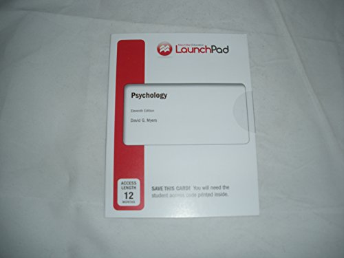 LaunchPad for Psychology (12 Month Access Card): 11th Edition