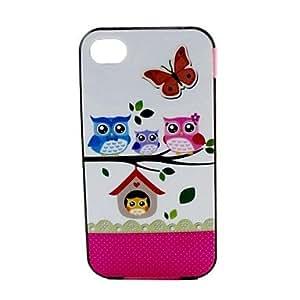 Cubierta Posterior - Gráfico/Diseño Especial/Innovador - para iPhone 4/4S/iPhone 4 ( Multicolor , TPU )