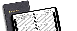 AT-A-GLANCE Recycled Weekly Appointment Book, 4 7/8-Inch x 8-Inch, Black, 2011/2012 (70-101-05)