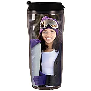 PixMug - Photo Travel Mug - The Mug That's A Picture Frame - DIY - Insert your own photos or designs - 14 oz with flip top