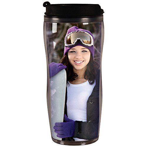 PixMug - Photo Travel Mug - The Mug That's A Picture Frame - DIY - Insert your own photos or designs - 14 oz with flip top]()