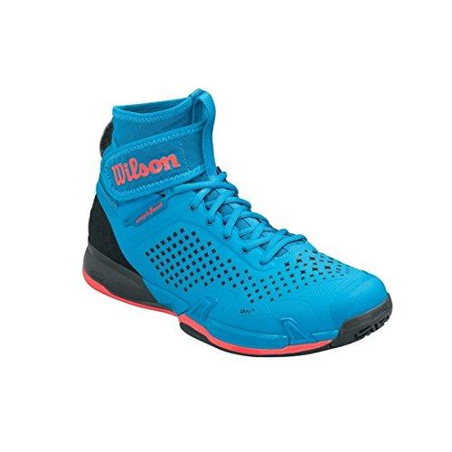 Wilson Wrs322550e070, Chaussures de Tennis Homme, Bleu (Methyl Blue / Black / Fiery Coral), 41 EU